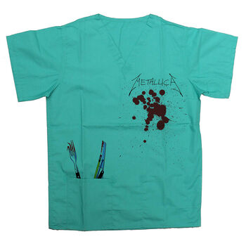 Crash Course In Brain Surgery Scrub Top, , hi-res