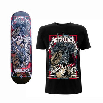 The Four Horsemen Conquest Skate Deck and T-Shirt Bundle, , hi-res