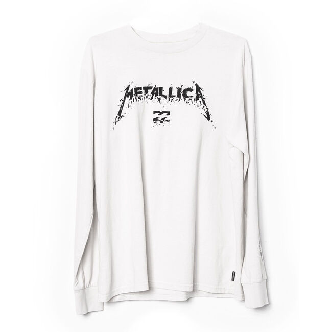 Billabong x Metallica AI Forever Long-Sleeve T-Shirt (WHT), , hi-res