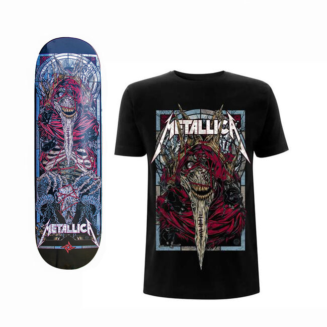 The Four Horsemen Plague Skate Deck and T-Shirt Bundle, , hi-res